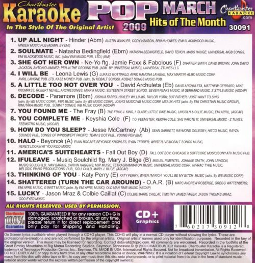 Pop Hits of the Month March 2009