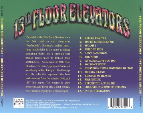 Psychedelic circus the 13th floor elevators songs for 13th floor elevators psychedelic circus