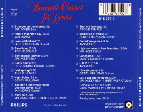 Romantic Clarinet for Lovers