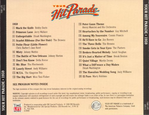 Your Hit Parade: 1959