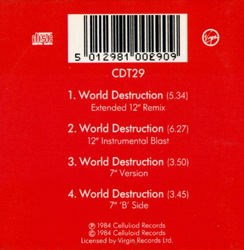World Destruction Time Zone Songs Reviews Credits