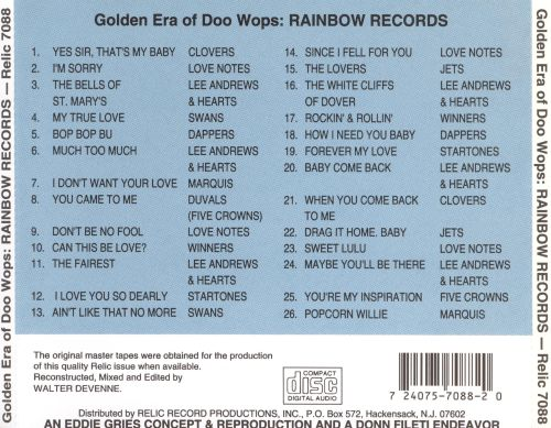 The Golden Era of Doo-Wops: Rainbow Records