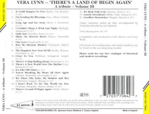 There's a Land of Begin Again: A Tribute, Vol. 3
