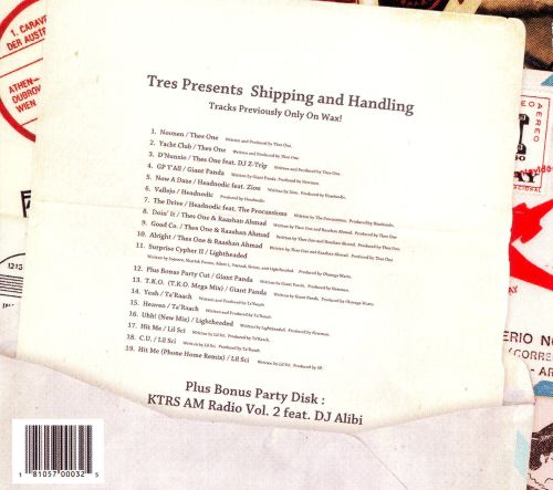 Tres Presents Shipping and Handling