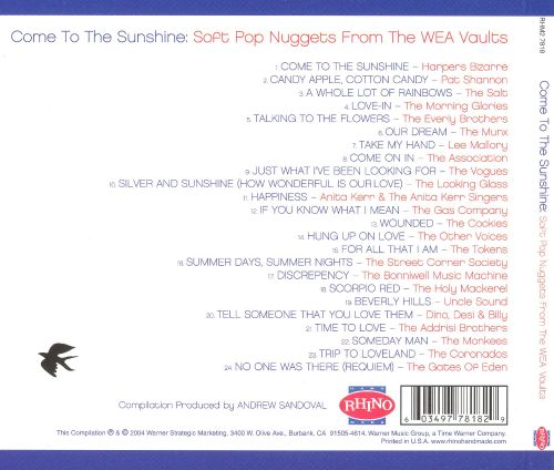Come to the Sunshine: Soft Pop Nuggets from the WEA Vaults