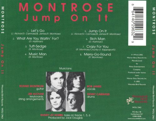 Jump On It Montrose Songs Reviews Credits Allmusic