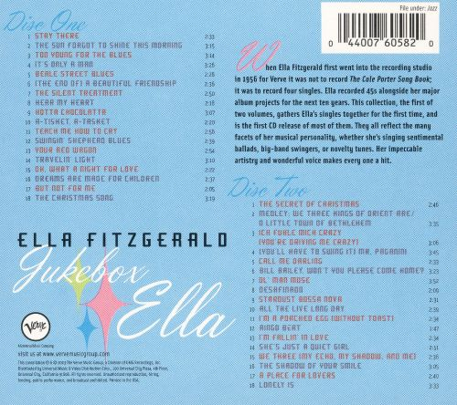 fitzgerald singles Signed by norman granz to verve, the label he hoped to build around her, ella fitzgerald inaugurated her long association with one of the greatest jazz imprints by recording a four-song session in 1956 intended for singles.
