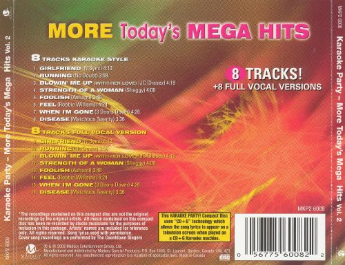 More Today's Mega Hits, Vol. 2