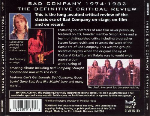 Inside Bad Company: A Critical Review 1974-82