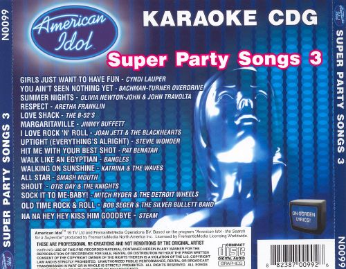 American Idol Super Party Songs, Vol. 3