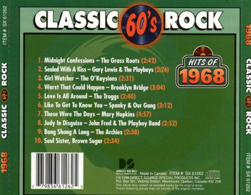 Classic Rock: Hits of 1968