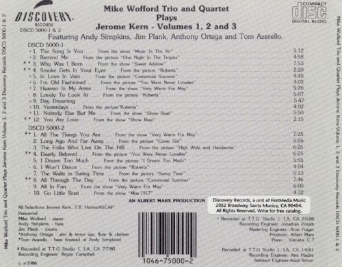 Mike Wofford Trio & Quartet Plays the Music of Jerome Kern, Vol. 1-3