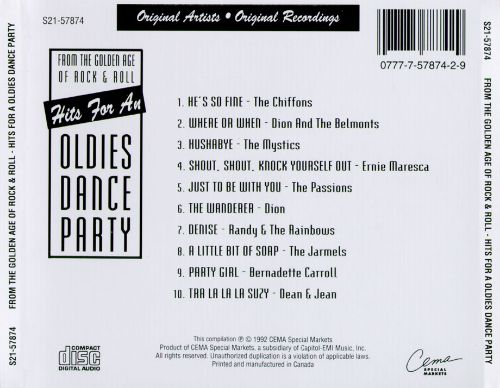 From the Golden Age of Rock & Roll: Hits for an Oldies Dance Party
