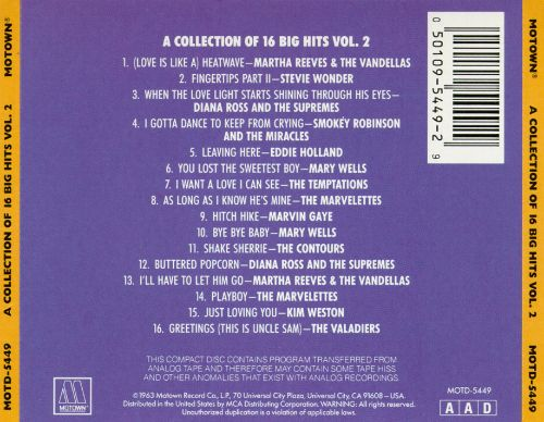 Collection of 16 Big Hits, Vol. 2