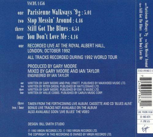 Parisienne Walkways '93 [CD #1]