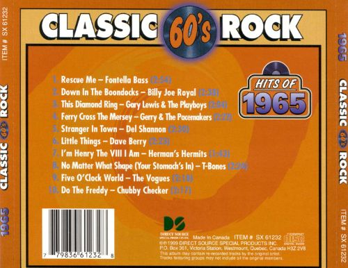 Classic Rock: Hits of 1965