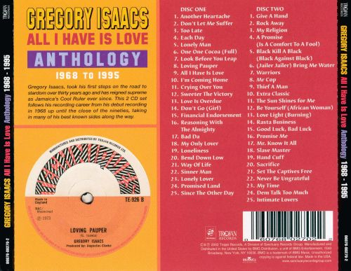 All I Have Is Love: Anthology 1968-1995