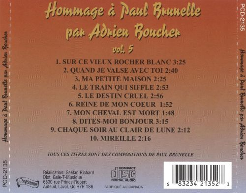 Hommage à Paul Brunelle, Vol. 5