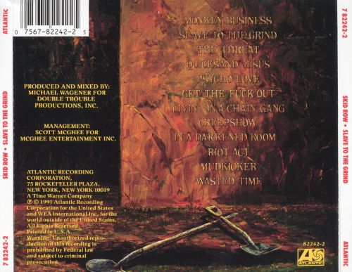 slave to the grind skid row songs reviews credits