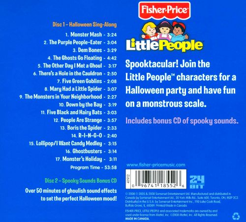 Little People: Halloween Sing-Along [2 CD]
