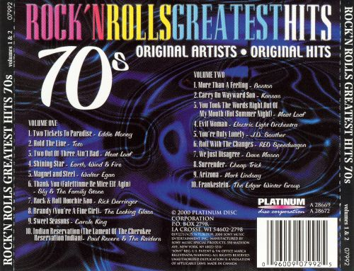 RNR Greatest Hits of the 70's, Vol. 1