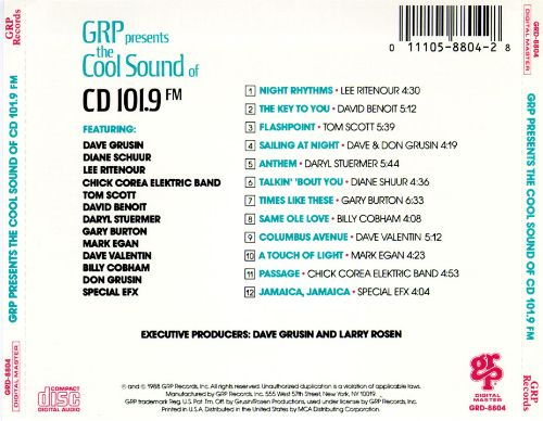 GRP All-Stars: WQCD - Cool Sounds of CD 101.9, Vol. 1