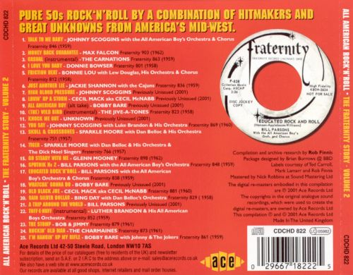 All American Rock 'n' Roll: The Fraternity Story, Vol. 2