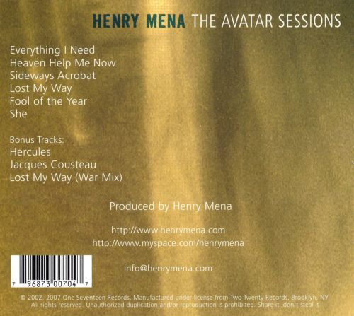 The Avatar Sessions