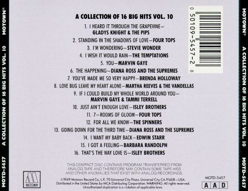 Collection of 16 Big Hits, Vol. 10