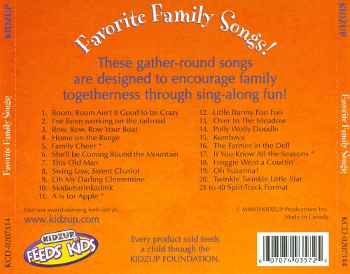 Favorite Family Songs