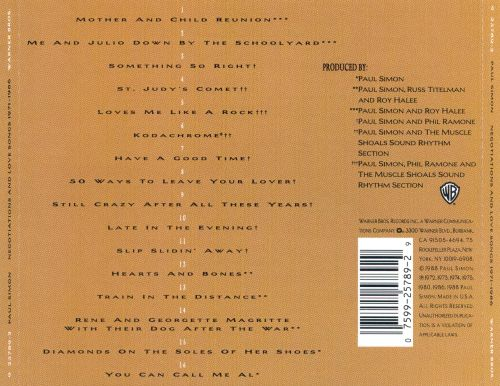Negotiations and Love Songs 1971-1986