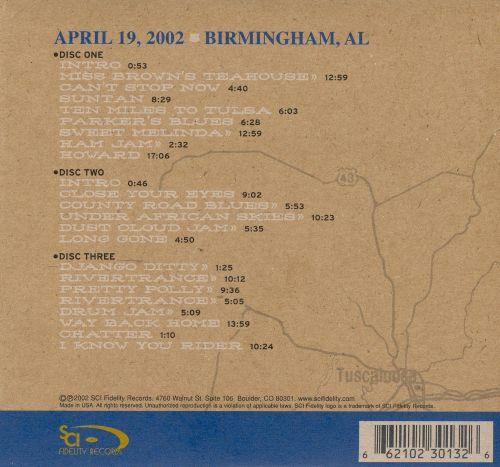 On the Road: 04-19-02 Birmingham, AL