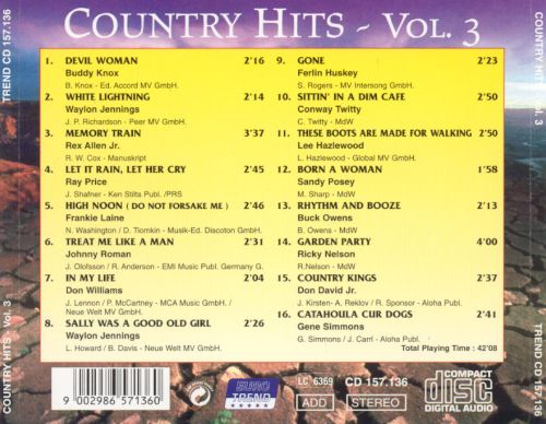 Country Hits, Vol. 3