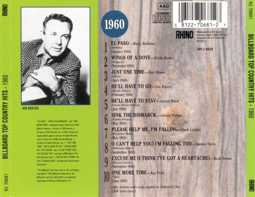 Billboard Top Country Hits: 1960