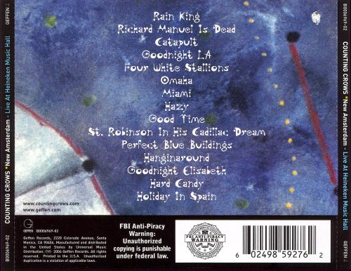 New Amsterdam: Live at Heineken Music Hall February 6, 2003