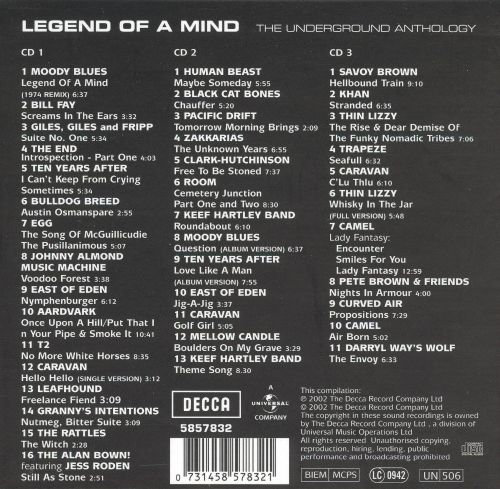 "Vaizdo rezultatas pagal užklausą ""Legend of a Mind: The Underground Anthology"""