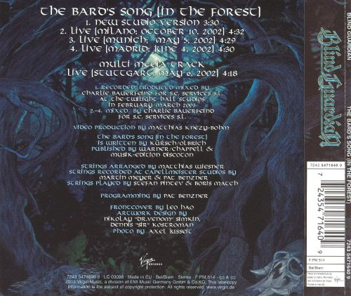 Bard's Song [Germany CD]