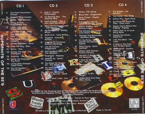 Super hits of the 80 39 s various artists songs reviews for 80 s house music list