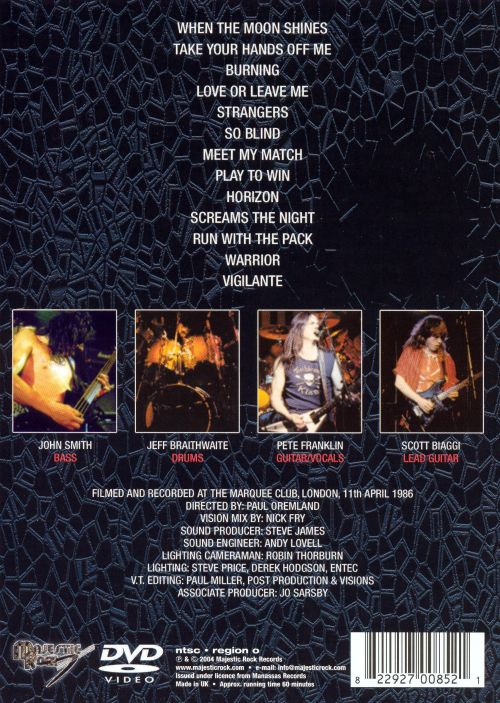 Sweating Blood: Live at the Marquee 86