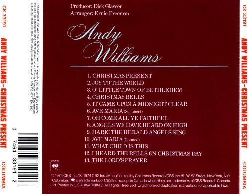 Andy Williams Christmas Present