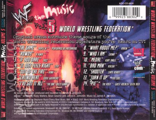 World Wrestling Federation: The Music, Vol. 5