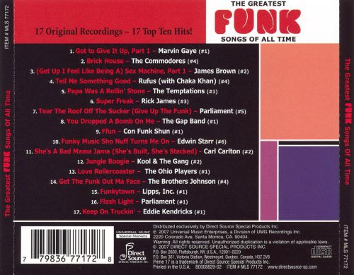Prime 17 the greatest funk songs of all time various for Best funky house tracks ever