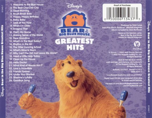 Greatest hits bear in the big blue house songs for Best house songs ever