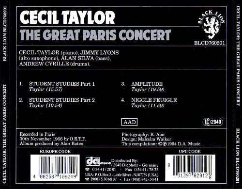 The Great Paris Concert