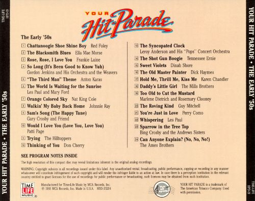 Your Hit Parade: The Early '50s
