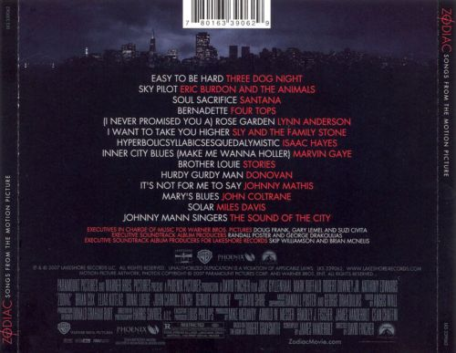 Zodiac: Songs from the Motion Picture