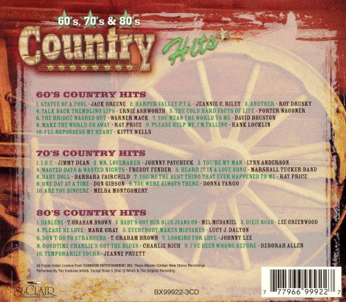 Country Hits 60's, 70's and 80's