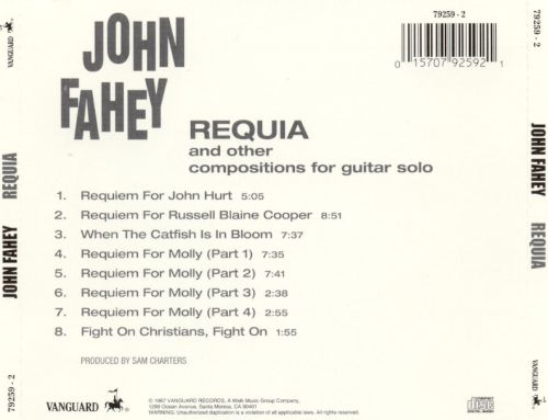 Requia & Other Compositions for Guitar Solo
