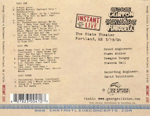 Instant Live: The State Theatre - Portland, ME, 3/19/04