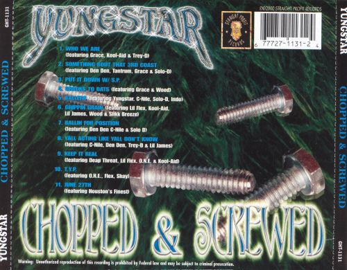 Throwed Yung Playas, Pt. 2: Chopped & Screwed